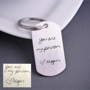 'You Are My Person' Custom Handwriting Keychain – Keychain – Love, Georgie