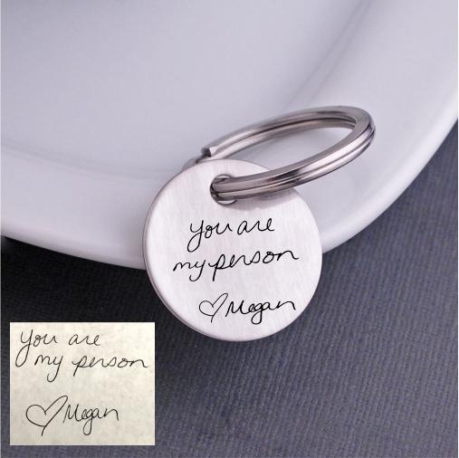 'You Are My Person' Custom Handwriting Keychain