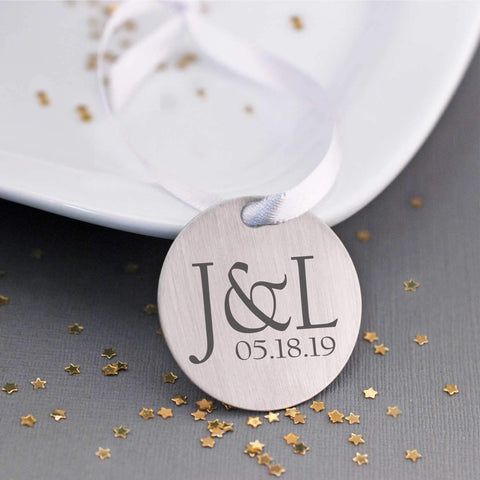 Tree Ornament - Wedding Initials and Date