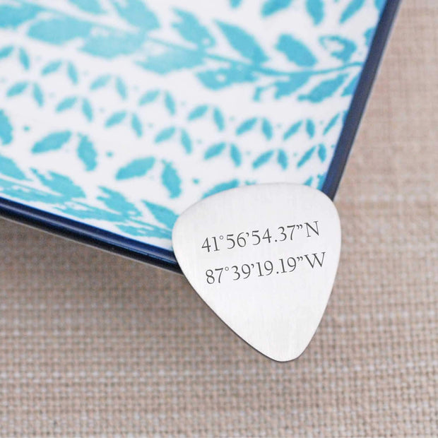 Guitar Pick - Latitude Longitude – guitar pick – Love Georgie