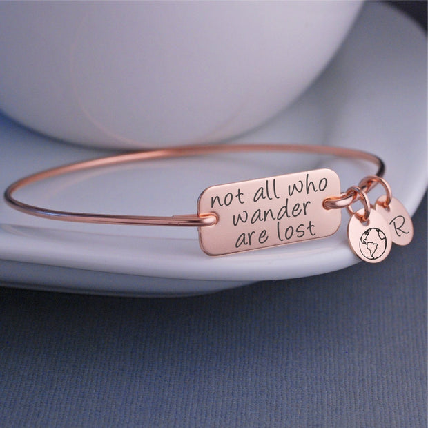 Not All Who Wander Are Lost Bracelet – bracelet – Love, Georgie