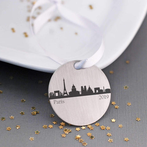 Tree Ornament - Custom City Skyline