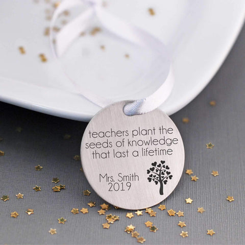 Tree Ornament - Teachers Plant the Seeds of Knowledge