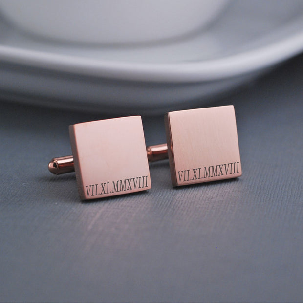 Roman Numeral Cufflinks – Cuff Links – Love, Georgie