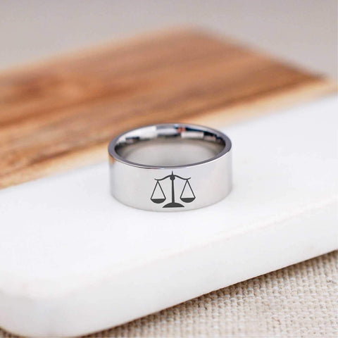 Scales of Justice Ring - 8mm
