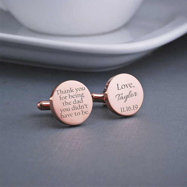 Stepfather of the Bride Cufflinks – Cuff Links – Love, Georgie