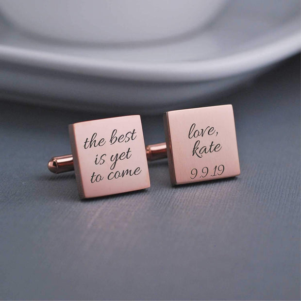 The Best is Yet to Come Cufflinks – Cuff Links – Love, Georgie