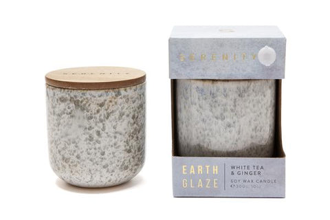 EARTH GLAZE CANDLE- WHITE TEA & GINGER