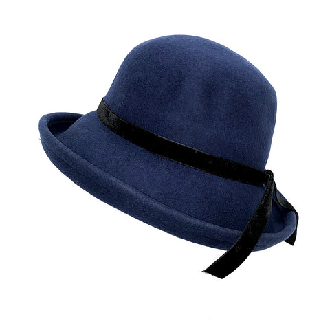 100% Australian Wool Hat-Navy