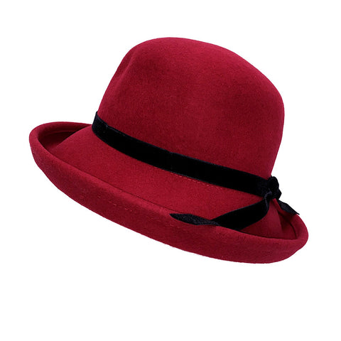 100% Australian Wool Hat-Burgundy