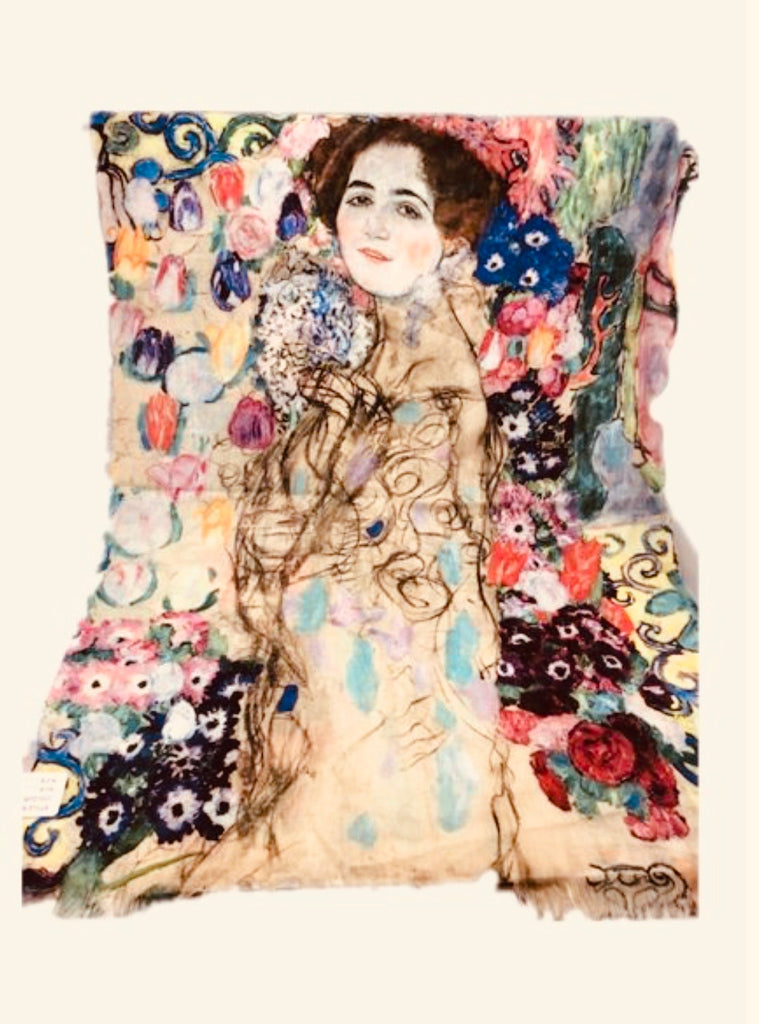 Art Series Scarf-Gustav Klimt-Portrait of Ria Munk