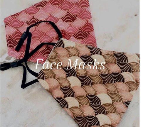 Face Mask Cotton- 2 Layers with Filter Pocket **$5 flat rate postage on all masks**