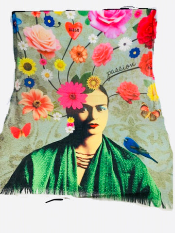 Art Series Scarf-Frida Kahlo-Passion