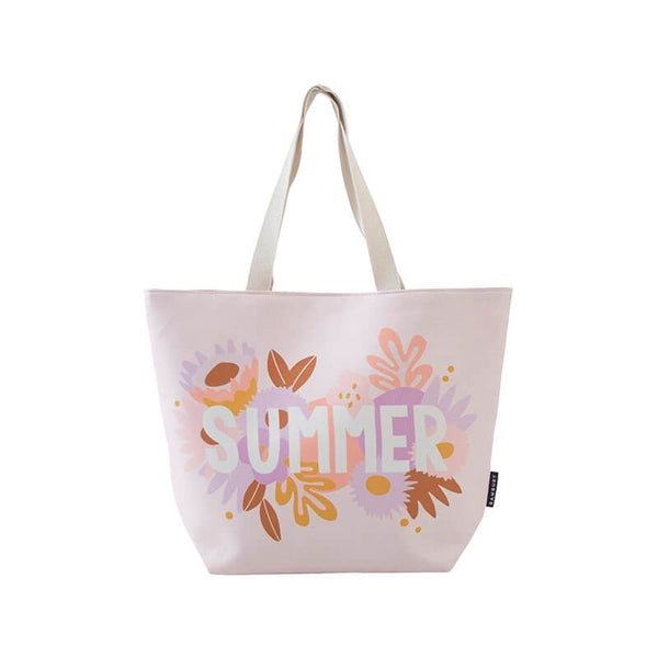 Printed Beach Tote Bag - Summer