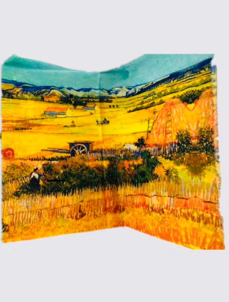 Art Series Scarf-Van Gogh-The Harvest