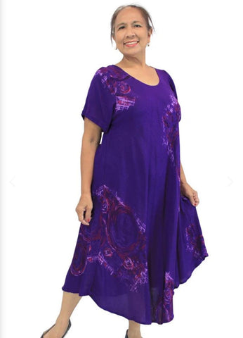 Newport Dress-Purple Monsoon Print