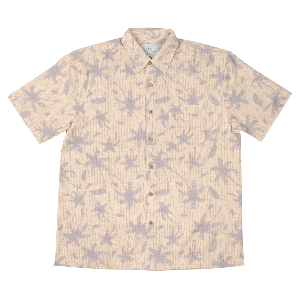 Men's BAMBOO FIBRE SHIRT-Palm Cove Print