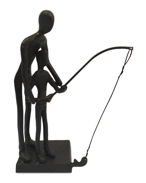 Men's Republic Father and Son Fishing Décor Statue