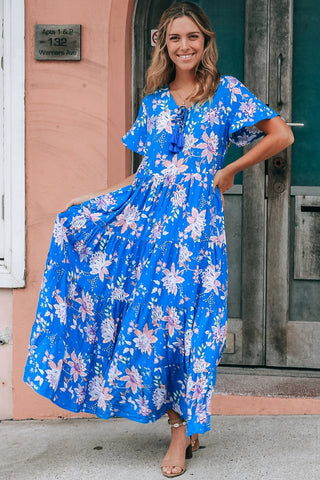 Leona Short Sleeves Maxi Dress
