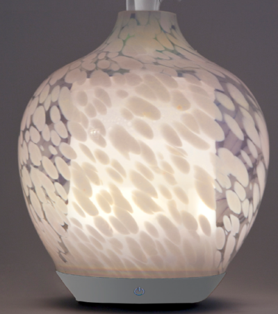Ultrasonic Diffuser - Handblown Glass- Pearl