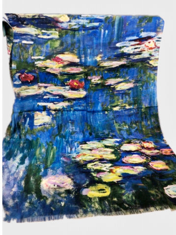 Art Scarf-Monet's Water Lillies