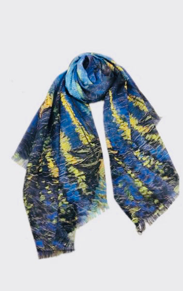 Art Series Scarf-Van Gogh-Starry Night