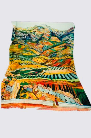 Art Series Scarf-Van Gogh-Distant Fields