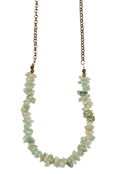 NATIVE NECKLACE - Jade Stone