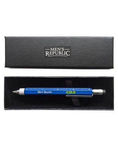 Men's Republic Stylus Pen Pocket Multi Tool 9-in-1 functions - Blue
