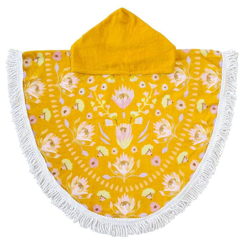 Kids Hooded Cotton Beach Poncho - Avalon