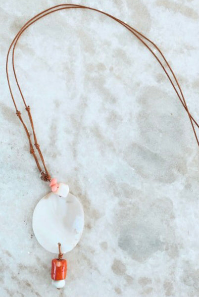 Coral Kisses Necklace-Shell