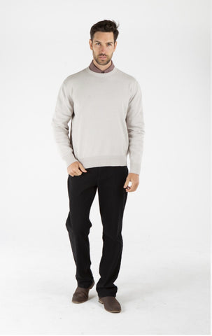 Men's Hemp Cotton Jumper-Grey