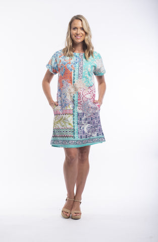 Orientique Reversible Dress- MADEIRA