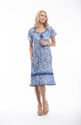 Orientique  Boho Dress- TENERIFE Print
