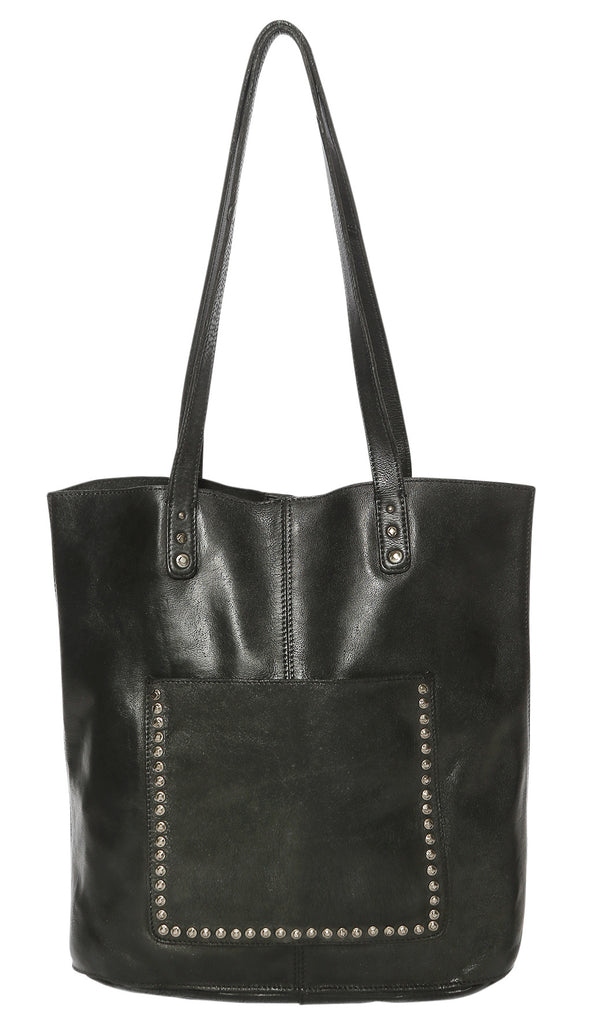 Modapelle Leather Tote Bag-Black