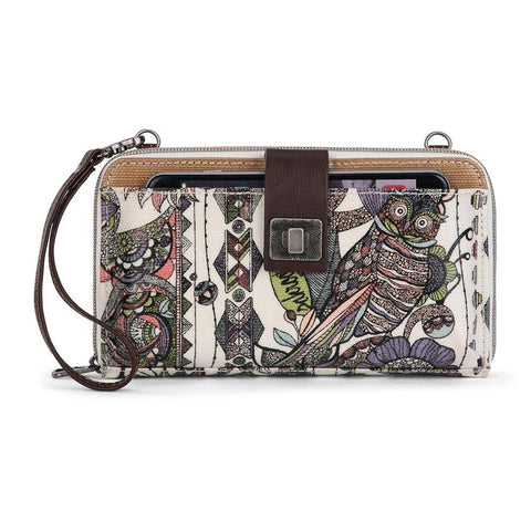 Sakroots Artist Circle Large Smartphone Cross body Purse-Pastel Spirit Desert