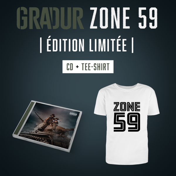 Gradur - Zone 59 - Pack CD Tee-shirt