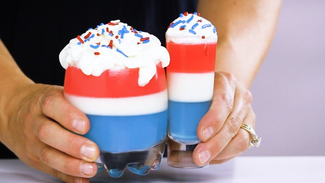 All-American 4th of July Jell-O Shots