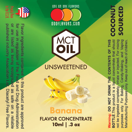 Natural Banana - MCT Concentrated Flavored Oil *Unsweetened*