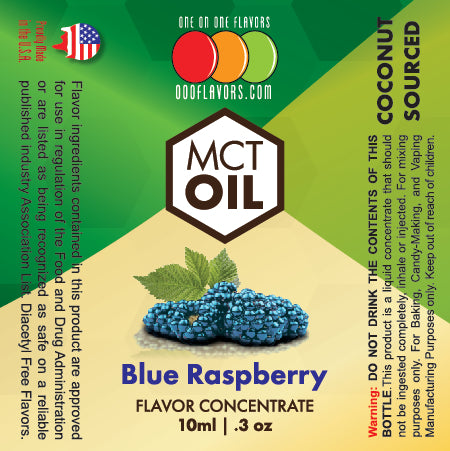 Natural Blue Raspberry - MCT Concentrated Flavored Oil *Unsweetened*