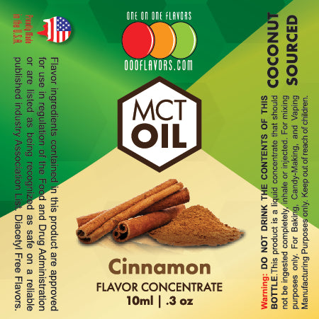 Natural Cinnamon - MCT Concentrated Flavored Oil *Unsweetened*