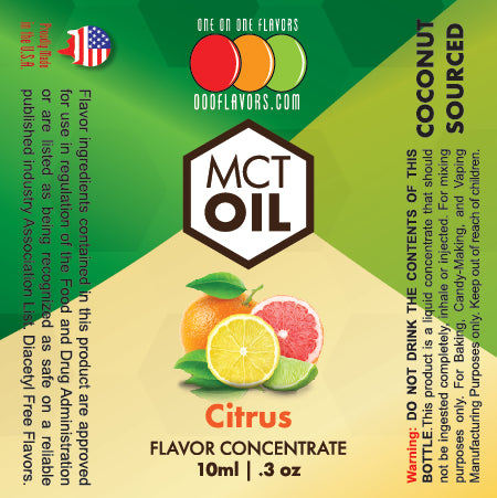Natural Citrus - MCT Concentrated Flavored Oil *Unsweetened*