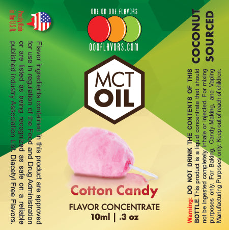 Natural Cotton Candy - MCT Concentrated Flavored Oil *Unsweetened*