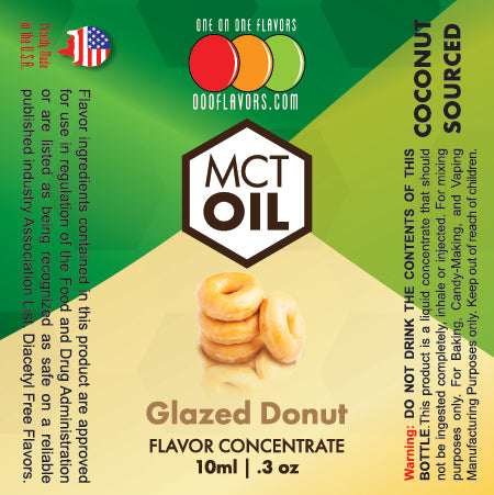 Natural Glazed Donut - MCT Concentrated Flavored Oil *Unsweetened*