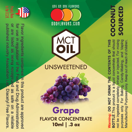 Natural Grape - MCT Concentrated Flavored Oil *Unsweetened*
