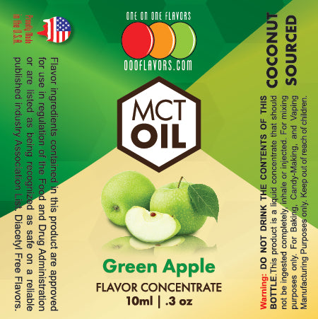 Natural Green Apple - MCT Concentrated Flavored Oil *Unsweetened*