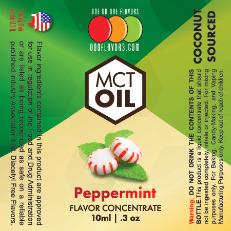Natural Peppermint - MCT Concentrated Flavored Oil *Unsweetened*