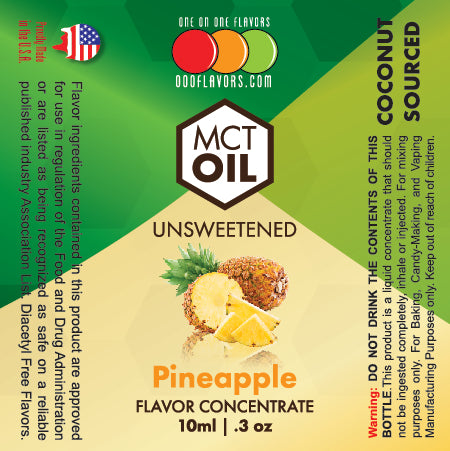 Natural Pineapple - MCT Concentrated Flavored Oil *Unsweetened*
