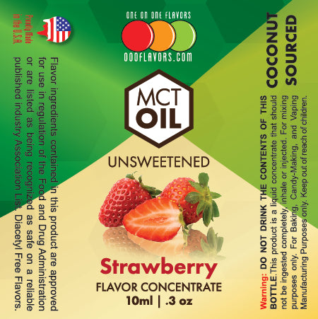 Natural Strawberry - MCT Concentrated Flavored Oil *Unsweetened*