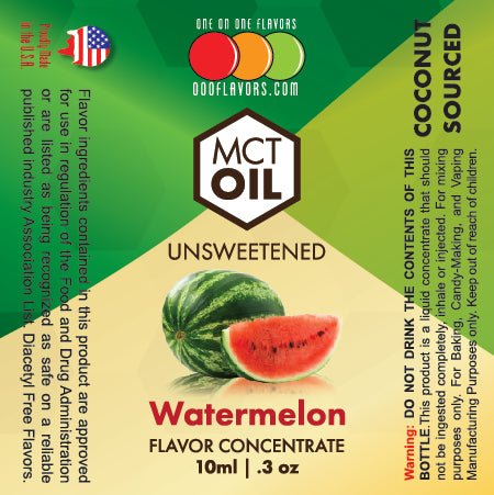 Natural Watermelon - MCT Concentrated Flavored Oil *Unsweetened*